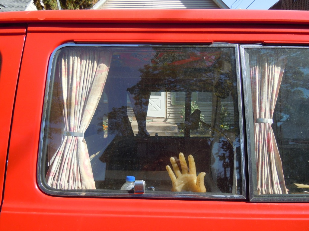Creepy Van - Hand from outside