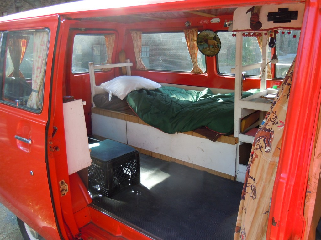 Creepy Van - Still has Sleeping Bag and Pillow