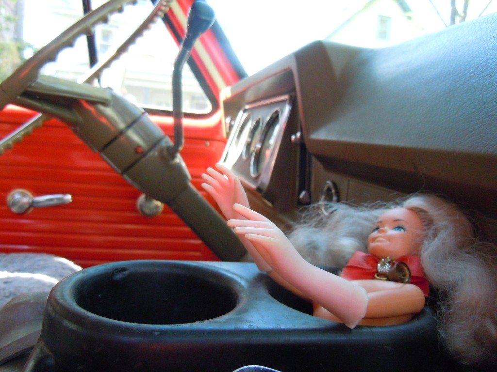 Creepy Van - Half of Barbie in a Cupholder