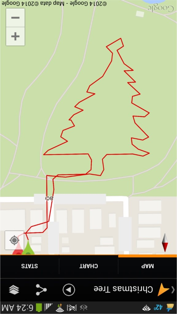Christmas Tree Google Tracks Drawing