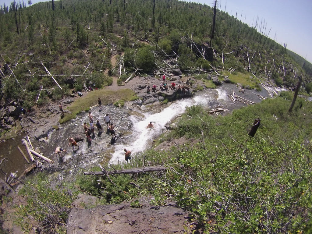Going Down The Natural Water Slides Of Paulina Creek